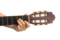 Main et guitare Images libres de droits