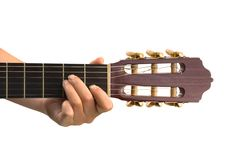 Main et guitare Photo stock