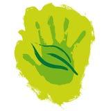 Main et lame illustration libre de droits