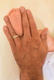 Main et pied Images libres de droits