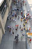 Main event. Crowd of people walking outside an event Royalty Free Stock Photography