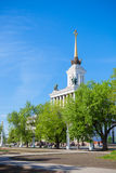 The spire of main exhibition pavilion of VDNKh Royalty Free Stock Images