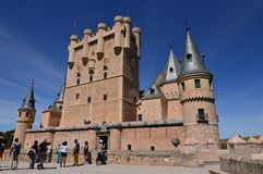 Main Facade Of The Alcazar Castle In Segovia. Architecture, Travel, History. June 18, 2018. royalty free stock photo