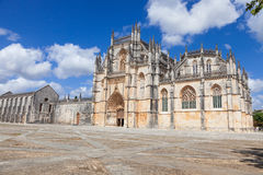 Main facade of Batalha monastery Stock Photography
