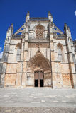 Main facade of Batalha monastery Royalty Free Stock Photos