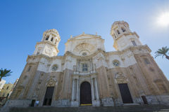 Main facade of the cathedral city of Cadiz, Spain Stock Photo