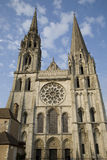 Main Facade, Chartres Cathedral, France. Main Facade of Chartres Cathedral, France Stock Photo