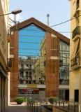Main facade of  Clot market  in Barcelona. BARCELONA, SPAIN - JULY 12, 2014: Main facade of  Clot market  in Barcelona Royalty Free Stock Image