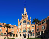 Main facade of hospital de Sant Pau. Barcelona Stock Photos