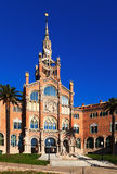 Main facade of hospital de Sant Pau in Barcelona. Catalonia Royalty Free Stock Photos