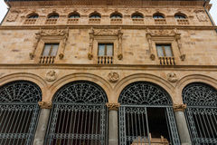Main facade of La Salina Palace in Salamanca Stock Photos