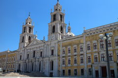 Main facade of the Mafra National Palace, Portugal Stock Image