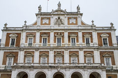 Main facade.Palace of Aranjuez, Madrid, Spain.World Heritage Sit. E by UNESCO in 2001 Stock Photo