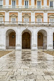 Main facade.Palace of Aranjuez, Madrid, Spain.World Heritage Sit. E by UNESCO in 2001 Royalty Free Stock Image