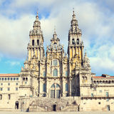 Cathedral of Santiago de Compostela Stock Image