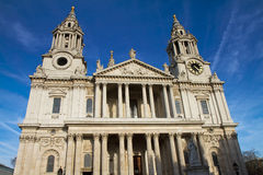 Main facade of St Pauls cathedral Royalty Free Stock Photo