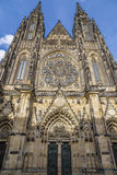 Main facade of the St Vitus Cathedral Stock Images