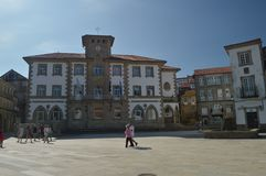 Main Facade Of The Town Hall In Curro Square In The Muro Village. Nature, Architecture, History, Street Photography. August 19,