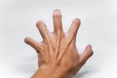 Main faisant le geste de griffe Image libre de droits