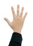 Main faisant le signe. Image libre de droits