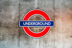 London Underground sign at Westminster Station Royalty Free Stock Images