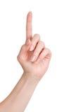 Main femelle de femme d'isolement sur le blanc Photo stock