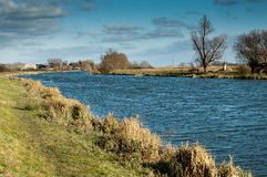 Main fenland drainage channel Stock Photos
