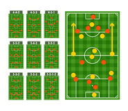 Main football strategy schemes Royalty Free Stock Photography