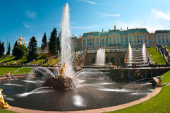 Main Fountain Samson In Peterhof In Russia Stock Images
