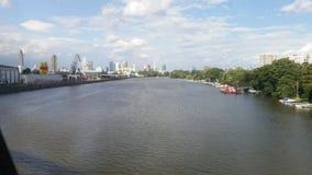 Main - Frankfurt. Nature, river, skyline Stock Photography