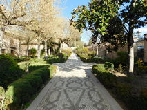 Main garden path. Somewhere in Spain royalty free stock photos