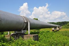 The main gas pipeline of a high pressure Royalty Free Stock Photo