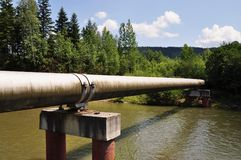The main gas pipeline of a high pressure. Royalty Free Stock Images