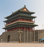 Main Gate into Ancient Beijing. Zhengyangmen, also called Qianmen (front gate), was the south and main gate into ancient Beijing Stock Photos