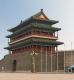 Main Gate into Ancient Beijing Stock Photos