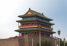 Main Gate into Ancient Beijing. Zhengyangmen, also called Qianmen (front gate), was the south and main gate into ancient Beijing Stock Photo
