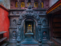 Main gate in Buddhist Golden Temple Royalty Free Stock Photography