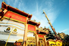 Main gate of Chinese temple, Thailand Stock Photography