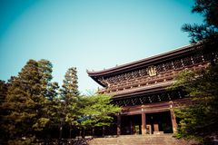 The main gate of Chion-in Temple in Kyoto Royalty Free Stock Images