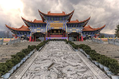 Main gate of Chongsheng temple The Three Pagodas temple, Dali, China, Stock Image