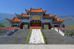 Main gate of Chongsheng temple The Three Pagodas temple, Dali, China,. The Chongsheng Temple Gate,the temple is situated at the foot of the Cangshan Temple ,Dali royalty free stock images
