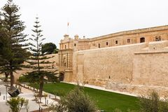 Main Gate city access to Mdina Royalty Free Stock Photo