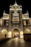 Main gate of Cloth hall (Polish: Sukiennice) in Krakow Stock Photo