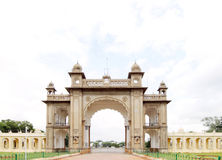 The main gate in the eastern side of the Mysore palace Royalty Free Stock Images