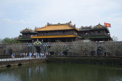 The main gate of the forbidden Purple city. View from the inner side. Hue, Vietnam Royalty Free Stock Photos