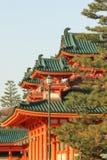 Main gate at Heian Shrine temple stock photography