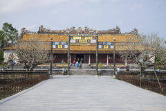 The main gate of the Imperial Forbidden Purple city. Hue, Vietnam Royalty Free Stock Image