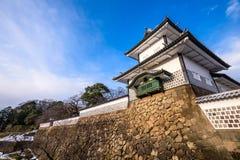 Main Gate of Kanazawa Castle. Kanazawa, Japan at the Ishikawa-mon Gate stock photos