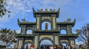 Main gate of Linh Ung Pagoda, Vietnam royalty free stock photo