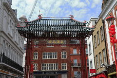 The Main Gate of London ChinaTown Royalty Free Stock Photo